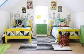 shared boys' room superhero