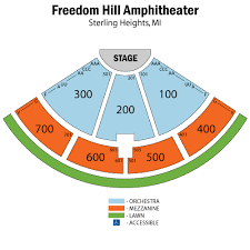 Freedom Hill Seating Chart Vampire Weekend Sterling Heights Tickets Vampire Weekend