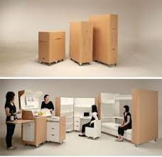 furniture for small spaces. japanese designers atelier opa created a unique set of products which are perfect for small spaces this foldaway furniture includes mobile home f