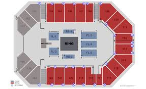 The Arena Corbin Ky Seating Chart Tickets Wwe Presents New Years Revolution Supershow