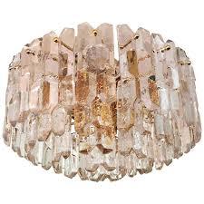 j t kalmar large palazzo ice glass chandelier flush mount