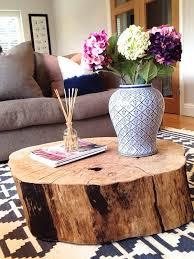 round stump coffee table