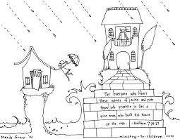 Small Picture Build Your House Upon the Rock Matthew 724 Coloring Page Design Kids