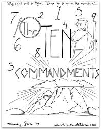 10 Commandments Coloring Pages Free Printable
