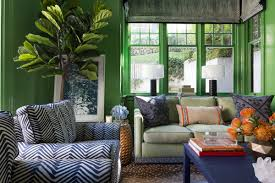 Interior paint home design Home Designing Noting That The Walls Trim And Bookshelves Are All Painted In Her Clients Favorite Color richmond Green By Benjamin Moore Designer Ann Lowengart Says Curbed 15 Bold Interior Paint Hues For Your Home Curbed