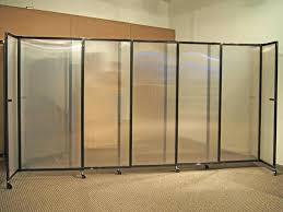 portable wall dividers portable rooms divider our sliding partition wall with semi transpa panels lightweight durable portable wall