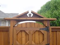 fence gate designs. Gate And/or Header Can Be Constructed Using An Arched Design. Gives Fences A Little Extra Style. Fence Designs L