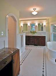 subway tiles tile site largest selection: a hex tile floor patterned with a simple flower and dot border is a