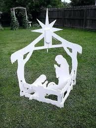 wooden outdoor nativity scene yard display set wood art lawn ornament sets outdoor sets