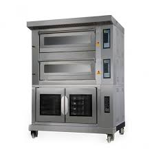 electric bakery convection oven 2 deck 4tarys oven with 10 pan proofing cabinet