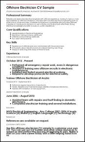 Sample Of Electrician Resumes Electrical Cv Magdalene Project Org