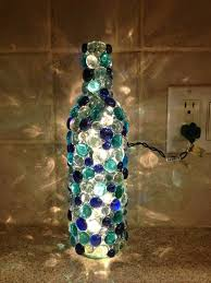 Wine Bottles Decorated With Glass Beads