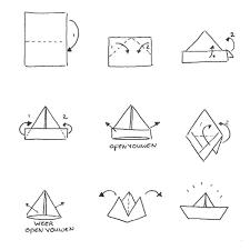 Boot Vouwen Papier Kleurplaat Kleurplaat Voor Kinderen