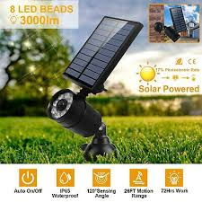 led hi power solar spotlight light yard