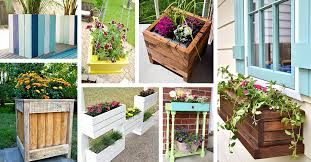 Amazing wooden garden planters ideas try Built 32 Diy Pallet And Wood Planter Box Ideas For Your Garden Homebnc 32 Best Diy Pallet And Wood Planter Box Ideas And Designs For 2019
