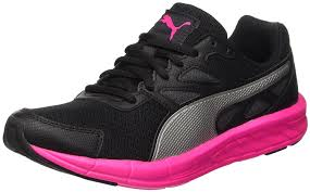 puma shoes pink and black. puma wn\u0027driver\u0027s trainers-black/silver/pink-glo 75 men\u0027s shoes sports \u0026 outdoor running road,puma clyde,fabulous collection pink and black