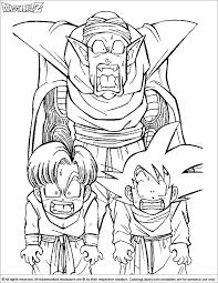 Dragon ball z coloring pages. Dragon Ball Z Fun Color Page Coloring Library