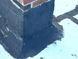 roofing patch flat roof chimney flashing used tar and reinforced fabric after 7 years leak a66