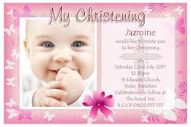 baptism card template invitation template for christening new invitation card samples for