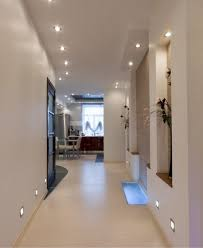 contemporary hallway lighting. Artistic Hallway Lighting Fixtures Contemporary Using Led Ceiling Puck And Recessed Wall Lamp For White Interior P