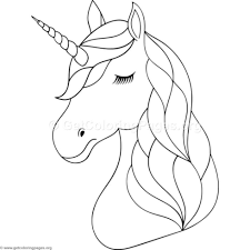 Unicorn Head Coloring Pages Getcoloringpagesorg Party Unicorn