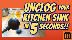 how to unclog kitchen sink in 5 seconds youtube