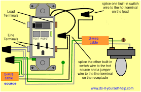 gfci outlet switch wiring diagrams do it yourself help com Wiring Gfci To A Lamp Post wiring ground fault interrupter and light switch Wiring a Switch to a Light Fixture