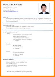 8 Applicant Resume Sample Filipino Time Table Chart