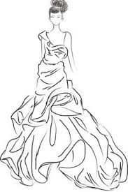 Small Picture fashion coloring pages Costume History Silhouette Dresses 1940s