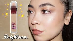lovely makeup for under eye bags with new maybelline the eraser eye brightener concealer review