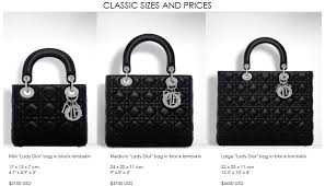 Lady Dior Sizes Mini Small Large In 2019 Miss Dior Bag