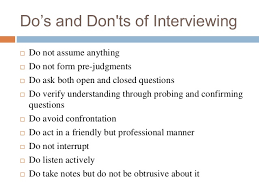 The Do S And Don Ts Of An Interview Presentation On Interview