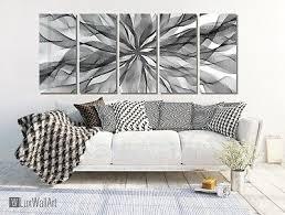 abstract smoke 5 panels paint metal