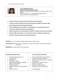 Medical Resume Writing Services Medical Representative Resume