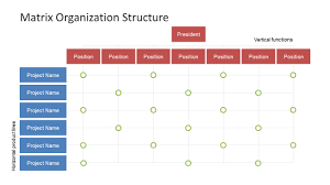 Management Chart Template Matrix Organization Structure