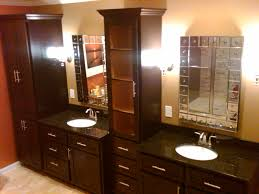 painting dark wood bathroom cabinets. bathroom, contemporary bathroom cabinets dark finished metal look mirror frames light painted walls white painting wood t