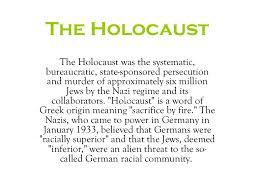 the holocaust w s r e
