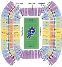 Lp Field Stadium Seating Chart Titans Tennessee Titans