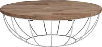 coffee table madison white frame 35xØ100 cm