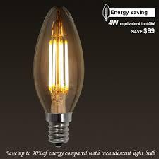 energy saving torchstar 4w e12 led filament candelabra bulb lightbox moreview
