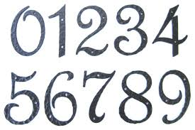 Cool Number Fonts New Good Font For House Numbers