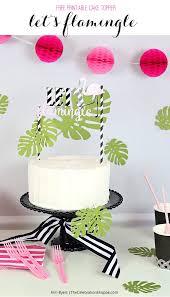 Flamingo Cake Cupcake Topper Party Idea Free Printable