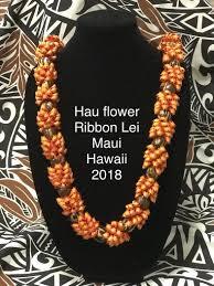 Ribbon Lei Designs Lei Hau Flower Ribbon Lei Designs By Kaliko Maui Hawaii