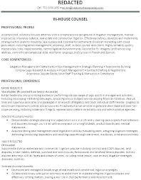 Corporate Attorney Resume