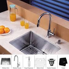 kraus 23 inch undermount single bowl 16 gauge stainless steel kitchen sink with pull down kitchen