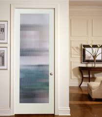 decorative glass door inserts with narrow reed style patterns