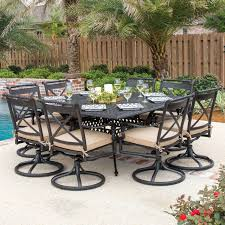 unique square patio table for 8 with carrolton 8 person cast aluminum patio dining set with