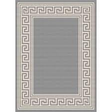 gct1020 5x8 5 x 7 medium greek key gray indoor outdoor rug garden city