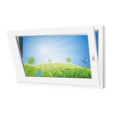 Fenster 900x600mm Kunststoff Pvc Bautiefe 60mm 2 Fach Glas Weiß