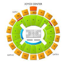 Joyce Center Seating Chart Ucla Bruins At Notre Dame Fighting Irish Mens Basketball